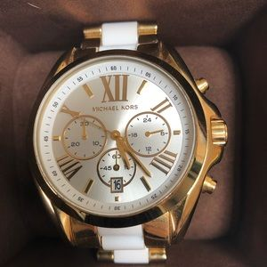 Michael Kors watch gold & white AUTHENTIC